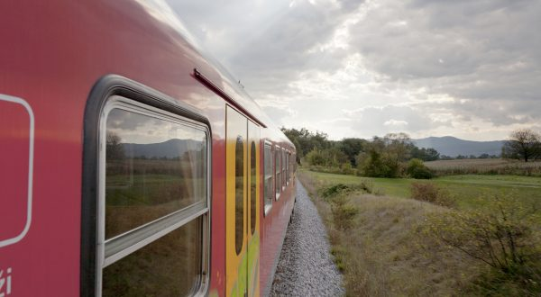 A train passing through the countryside, Slovenia, Europe, Image: 146397733, License: Rights-managed, Restrictions: , Model Release: no, Credit line: Profimedia, imageBROKER