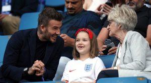 David Beckham poljubil hčerko na usta
