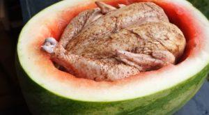 piščanec v lubenici