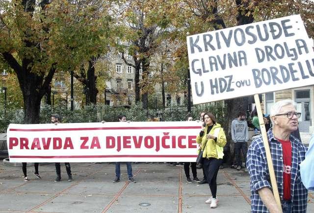 protest skupinsko posilstvo v zadru
