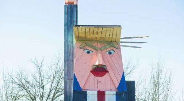 trumpov kip v moravčah