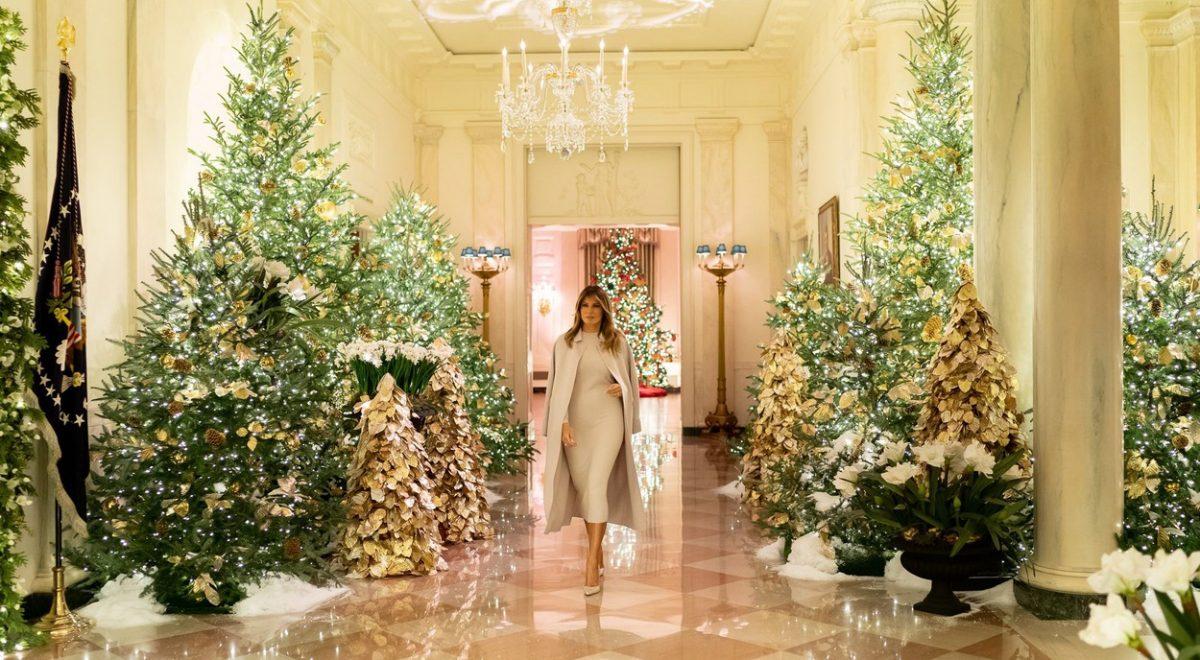 melania trump okrasila belo hišo