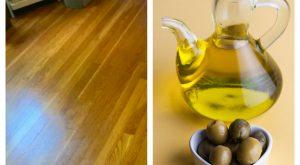 čiščenje tal z olivnim oljem