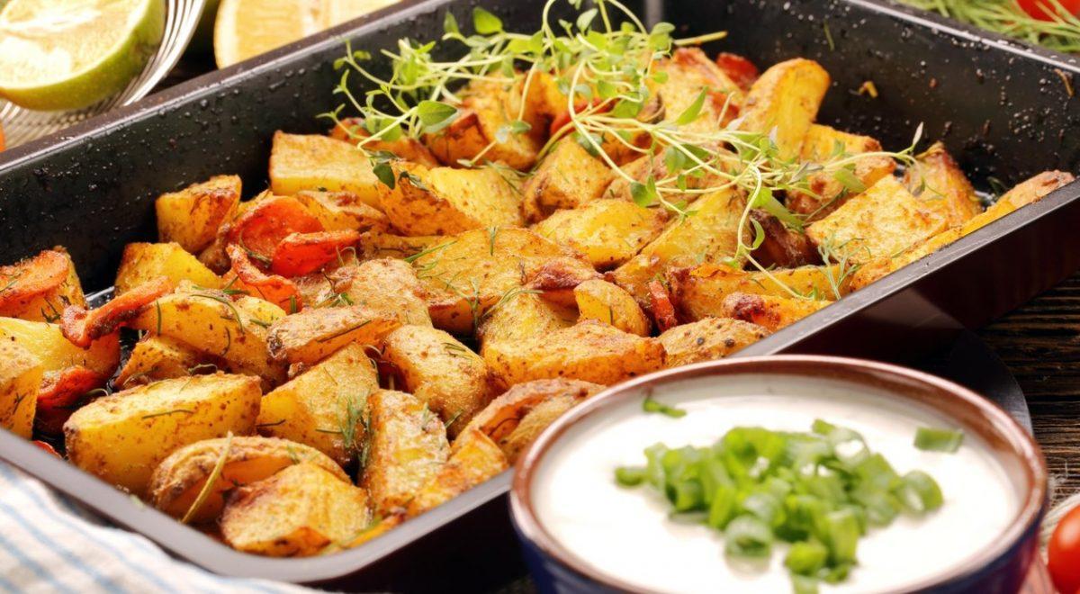 hrustljav pečen krompir