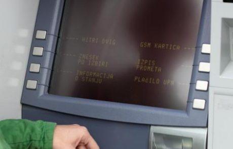 Bančni avtomati spet na udaru