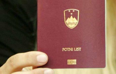 Slovenski potni list na 12. mestu na svetu