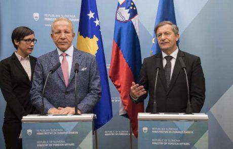 Zunanji minister Kosova poln hvale na račun Slovenije
