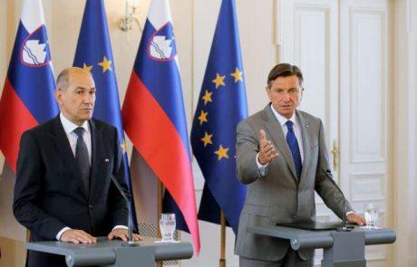 Pahor na 'neformalnem' srečanju izrazil podporo Janezu Janši