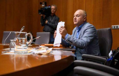Ustavno sodišče deloma zadržalo izvajanje parlamentarne preiskave v zadevi Kangler