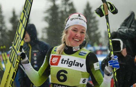 Smučarska tekačica Anamarija Lampič zmagala na tekmi za svetovni pokal v Lenzerheideju