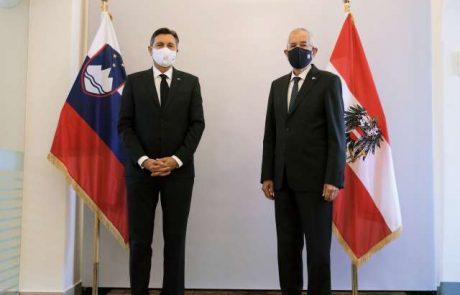 Pahor in Van der Bellen sta se dogovorila za tesnejše sodelovanje obeh držav v boju proti podnebnim spremembam