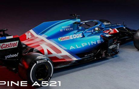 Moštvo Alpine, kot se po novem imenuje ekipa francoske tovarne Renault, predstavilo prvi dirkalnik formule 1