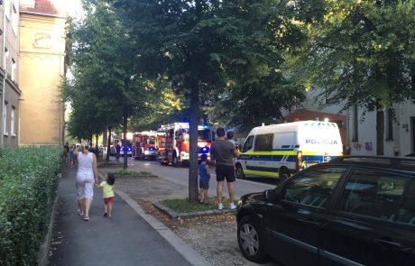FOTO: Zagorelo v večstanovanjskem bloku v Mariboru