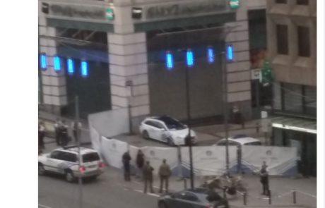 Bruselj znova v strahu: Bombna grožnja v nakupovalnem središču