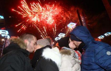 FOTO: Maribor v novo leto z ognjemetom