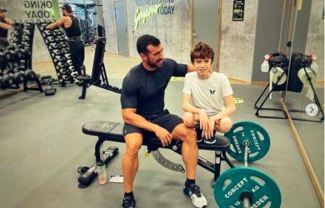 Lepo ali pretiravanje? Marko Potrč in njegov 12-letni sin pokazala natrenirano telo
