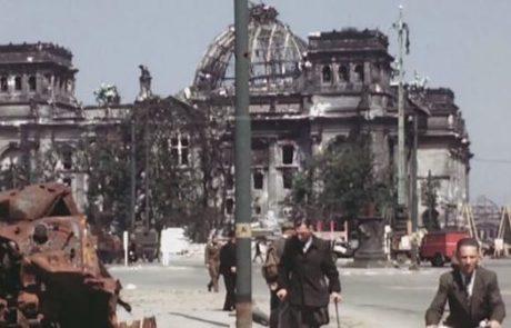 TO MORAŠ VIDETI: Osupljiv barvni posnetek Berlina iz leta 1945 (video)