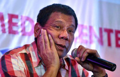 """Filipinski predsednik bi """"z veseljem"""" poklal milijone odvisnikov od mamil"""