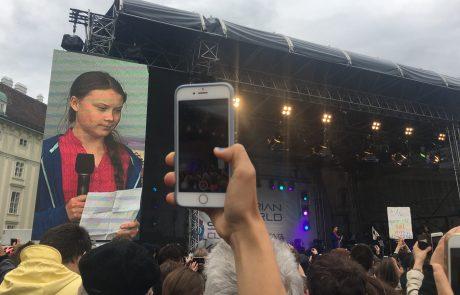 Reportaža z Dunaja: Greta Thunberg in Arnold Schwarzenegger sta pozvala k takojšnjemu ukrepanju glede zaščite našega planeta (video + foto)