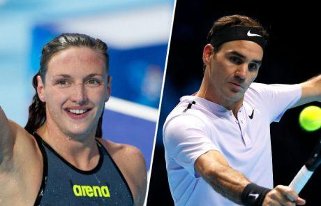 Evropska športnika leta po izboru AIPS Federer in Hosszujeva