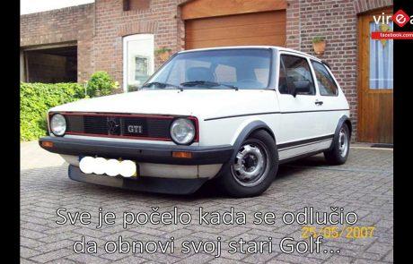 Noro, kaj je naredil iz starega VW Golfa! (video)