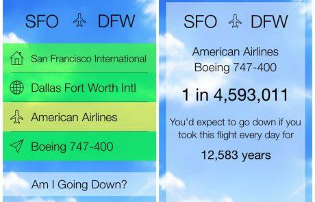 Zdaj si lahko izračunate, kolikšna je verjetnost, da bo prav vaše letalo strmoglavilo!