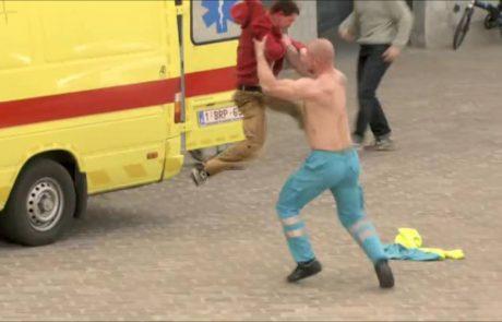 Prebivalce mesteca v Belgiji so pošteno potegnili za nos (video)