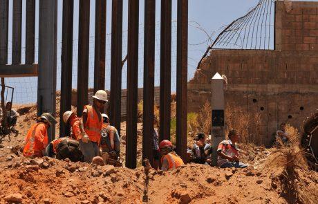 Pentagon prekinil gradnjo zidu na meji z Mehiko