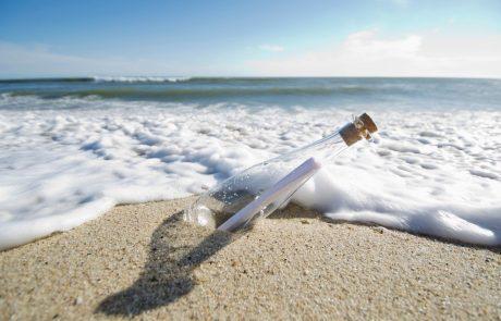 Na nizozemski obali našel pismo v steklenici, ki ga je pred 22 leti na Pagu odvrgla Slovenka
