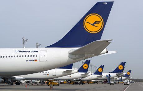 Lufthansa namerava potnike pred letom testirati na covid-19