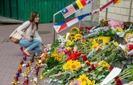 Na Nizozemskem ob 3. obletnici nesreče odkrili spomenik žrtvam sestrelitve malezijskega letala nad Ukrajino