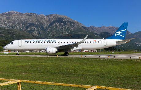 Novi črnogorski državni letalski prevoznik bo letel tudi na Brnik