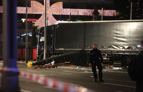23-letni domnevni terorist na božični tržnici Berlinu s tovornjakom do smrti povozil najmanj 12 ljudi, 49 je ranjenih (foto+video)