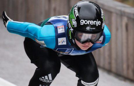 Slovenske skakalke na Ljubnem do premierne ekipne zmage