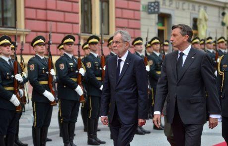 Predsednik Pahor bo v četrtek na uradnem obisku v Avstriji, predsednika bosta skupaj bosta pregledala sodelovanje njunih držav