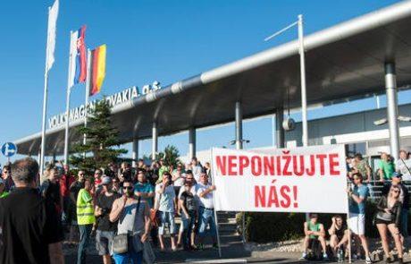 Volkswagnovi delavci na Slovaškem s stavko do višjih plač