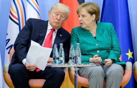 Angela Merkel je morala Trumpu 11-krat pojasnjevati osnove trgovanja z EU