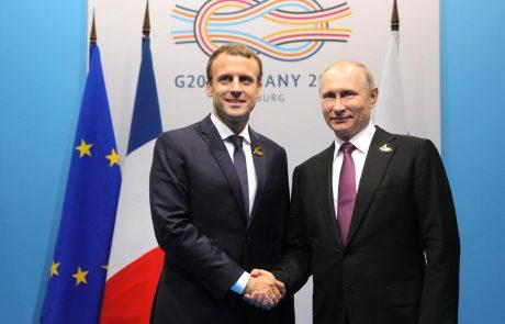 Putin in Macron za strogo spoštovanje iranskega jedrskega sporazuma