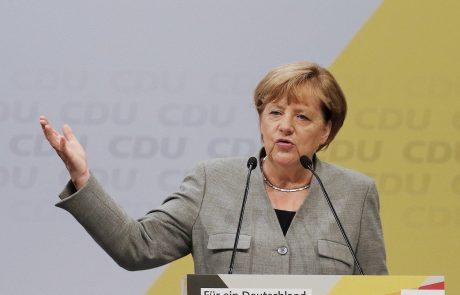 Stranka kanclerke Merklove za veliko koalicijo s socialdemokrati
