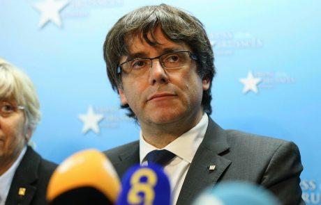 Madrid za Puigdemonta in štiri njegove ministre zahteva evropski zaporni nalog