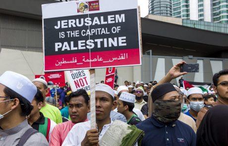 Zaradi vprašanja Jeruzalema spopadi med Palestinci in izraelsko vojsko