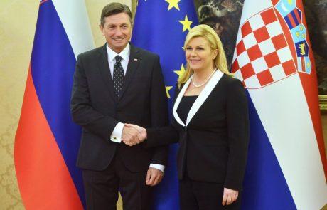 Grabar-Kitarovićeva danes na poslovilnem obisku v Sloveniji