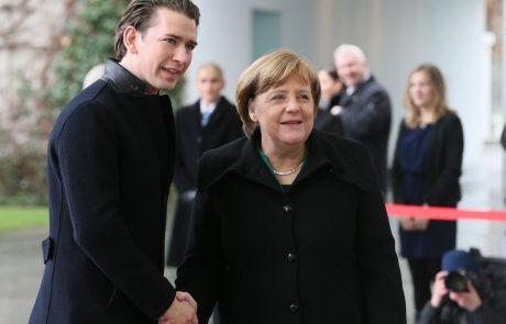 Merklova vidi dobro osnovno za sodelovanje z novo avstrijsko vlado