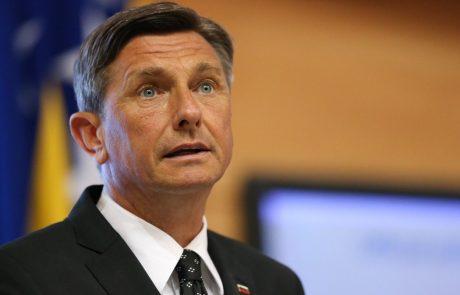 Predsednik Pahor se je za las izognil nesreči