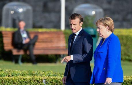 Macron in Merklova odkrila sporočilo sprave