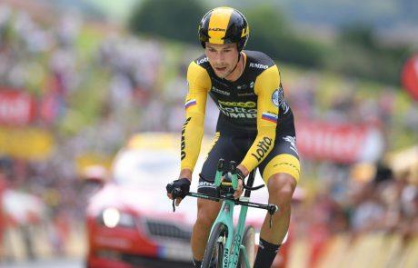 Roglič tudi po 18. etapi ostaja na tretjem mestu skupno