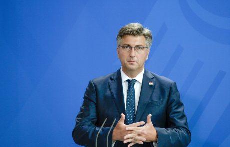 """Plenković: """"Sodišče EU ne more rešiti spora o meji med Slovenijo in Hrvaško"""""""