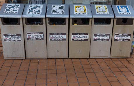 Ločevanje odpadkov po japonsko, ki za tujce predstavlja precej trd oreh