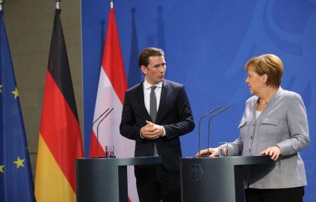 Merklova in Kurz sta se kljub različnim pogledom zavzela za okrepitev nadzora na mejah EU