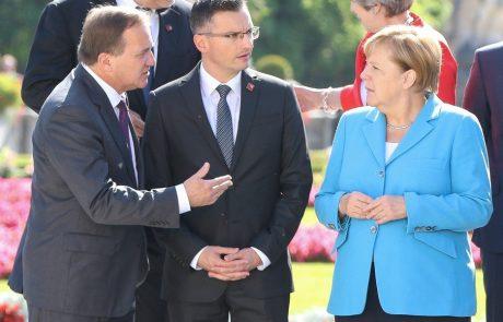Merklova ponudila pomoč pri reševanju vprašanja meje med Slovenijo in Hrvaško